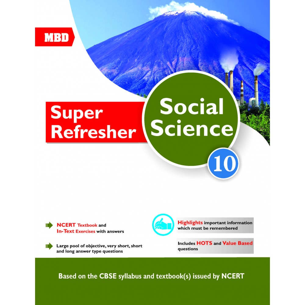 MBD SUPER REFRESHER SOCIAL SCIENCE CLASS-10 CBSE (E) | mbdbooks in