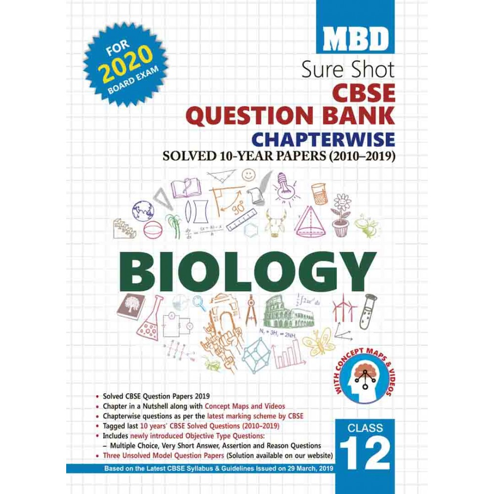 MBD SURE SHOT QUESTION BANK BIOLOGY CLASS-12 (E) CBSE