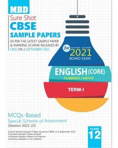 MBD SURE SHOT SAMPLE PAPER ENGLISH CORE CLASS 12 TERM-1 (NOV-DEC 2021)