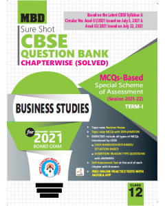 MBD SURE SHOT QUESTION BANK BUSINESS STUDY CLASS 12 (E) TERM-1 (NOV-DEC 2021)